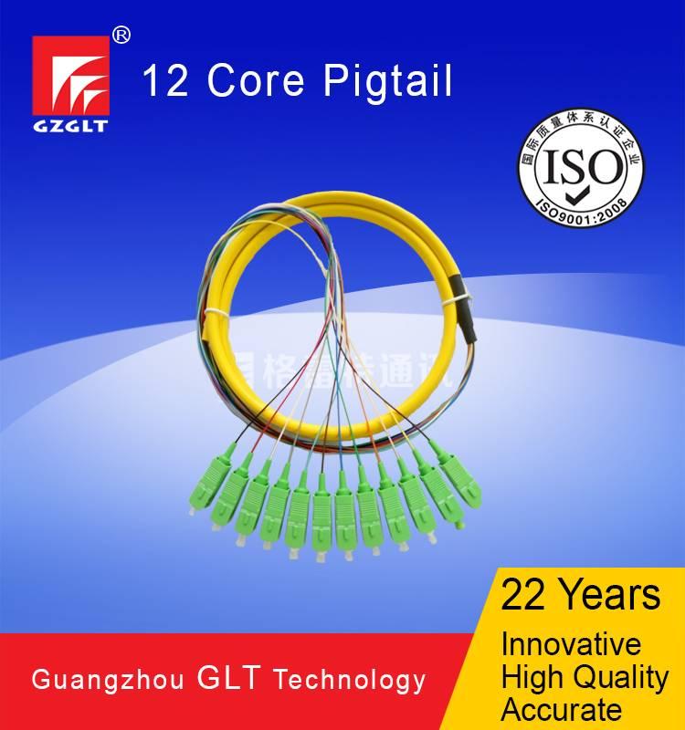 12 core SC/APC fiber optic pigtail