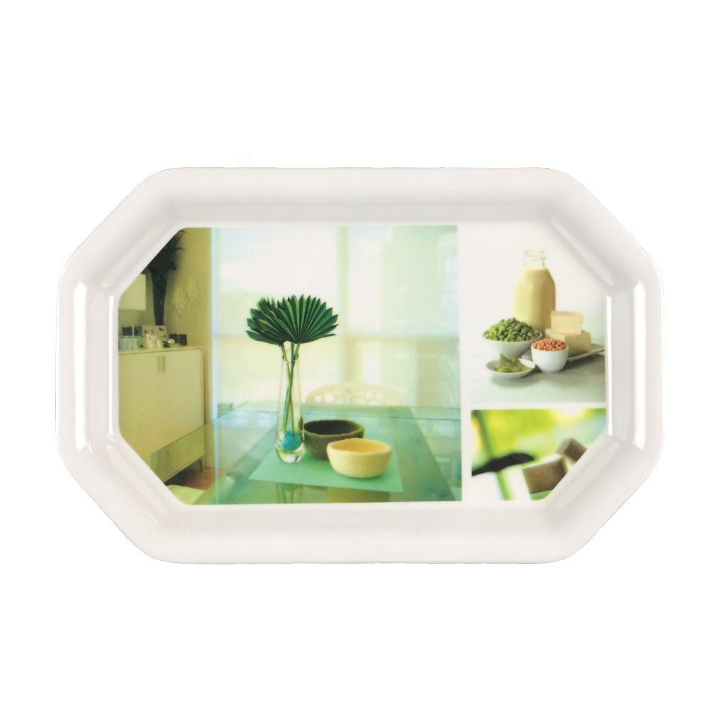 Octagon melamine plate melamine tray safe for hotel house