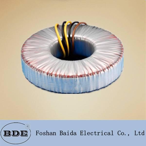 single phase toroidal electrical transformer