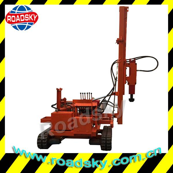 Roadway Safety Crash Barrier Hydraulic Post Driver