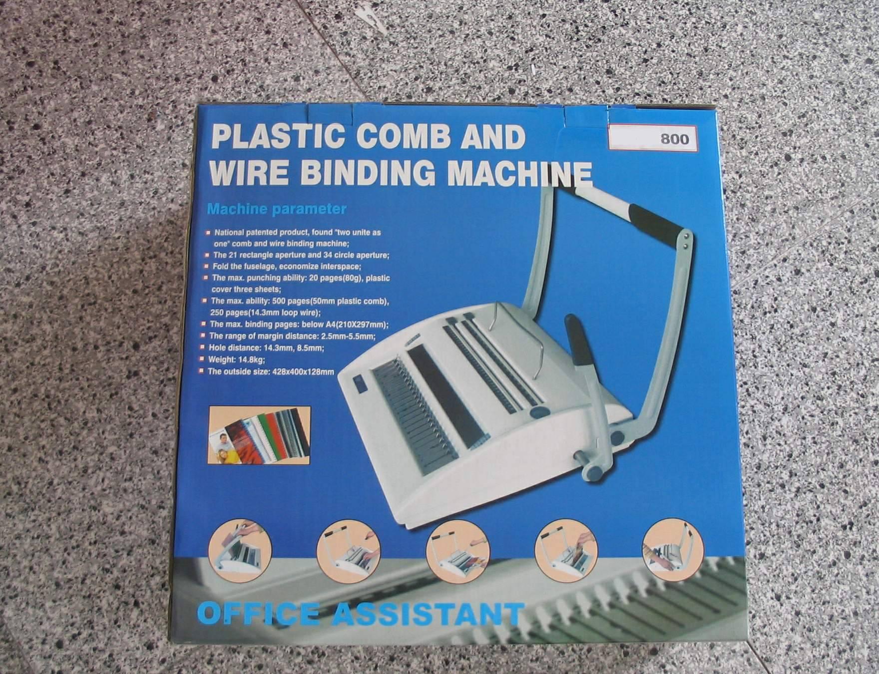 COMB/WIRE BINDING MACHINE ST800