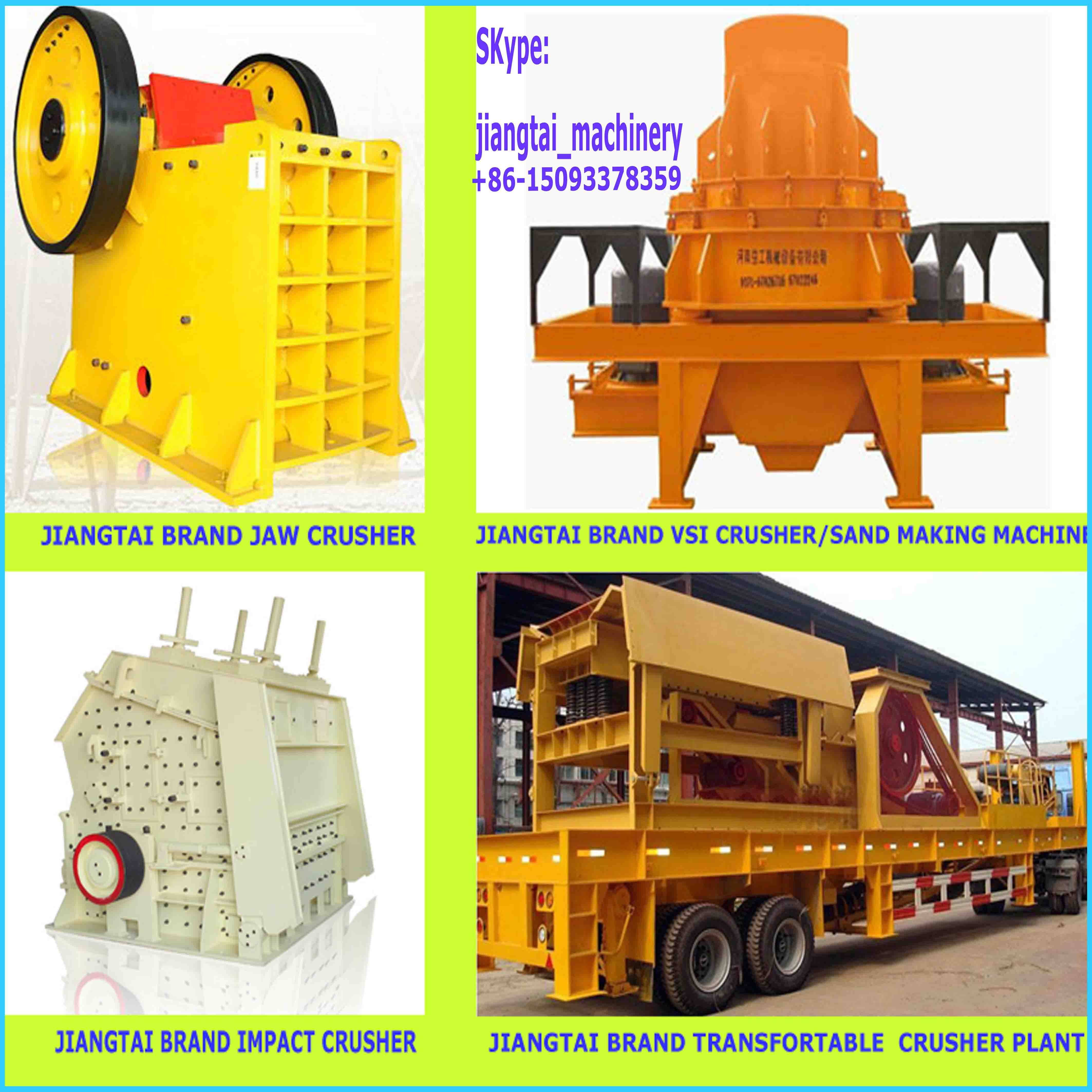 aggregate making plant with stone crushing machine