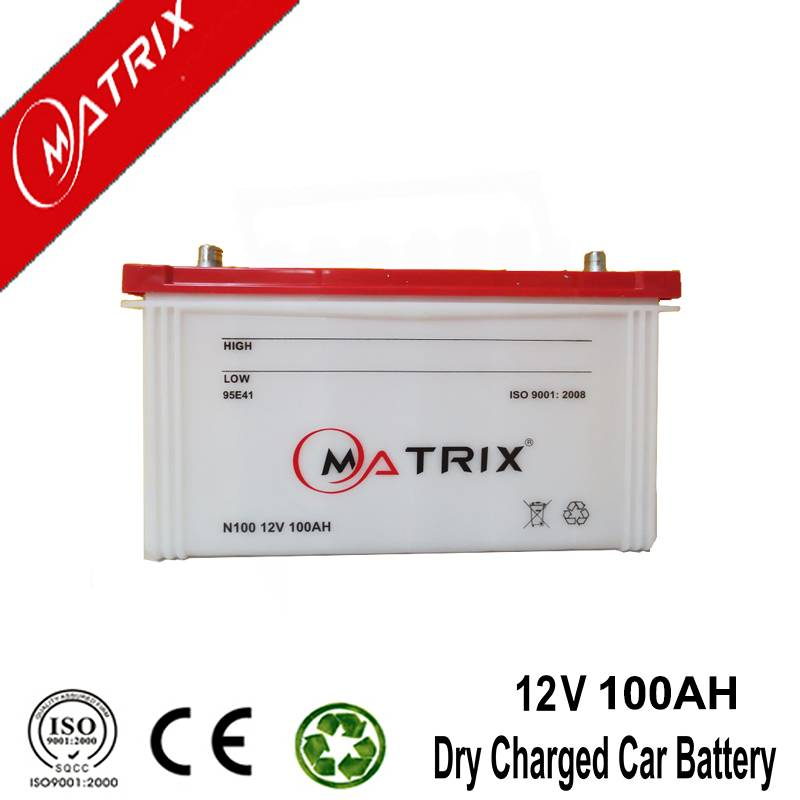 12v 100ah auto batteries dry charged car battery