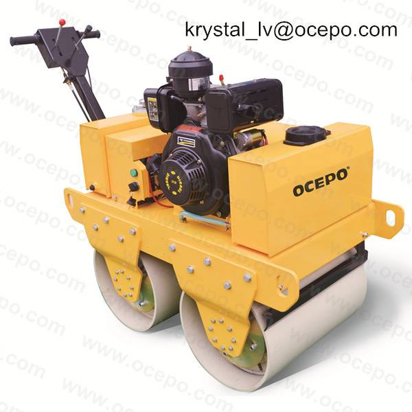 Automatic handheld  Road Roller Double wheel compactor