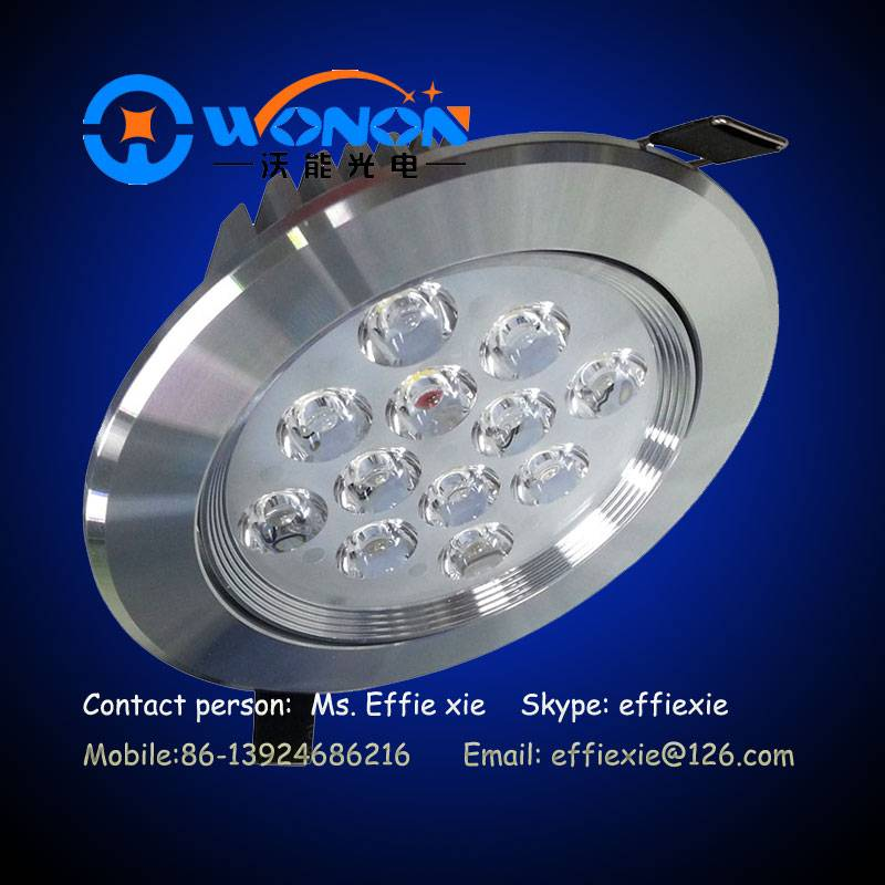 12x1W dimmable round led ceiling light