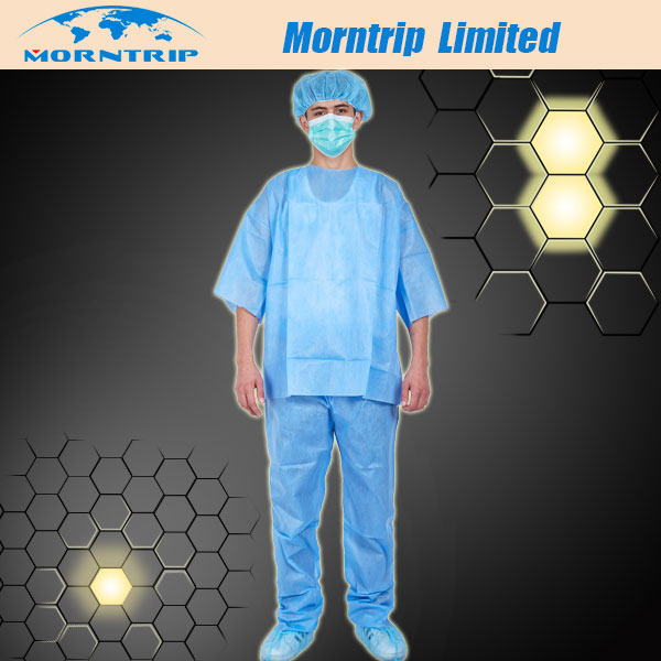 Disposable Surgical Scrub Suit, Non Woven SMS PP Hospital Gowns