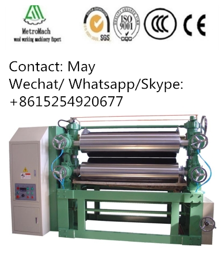 Double sides glue spreader machine for making plywood