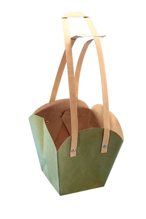 Light Green Waterproof Kraft Paper Bag Bonsai gift bag Party supply