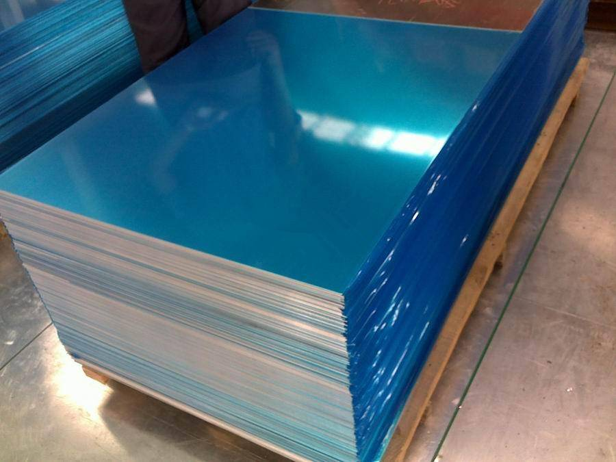 aluminum sheet with blue film coated
