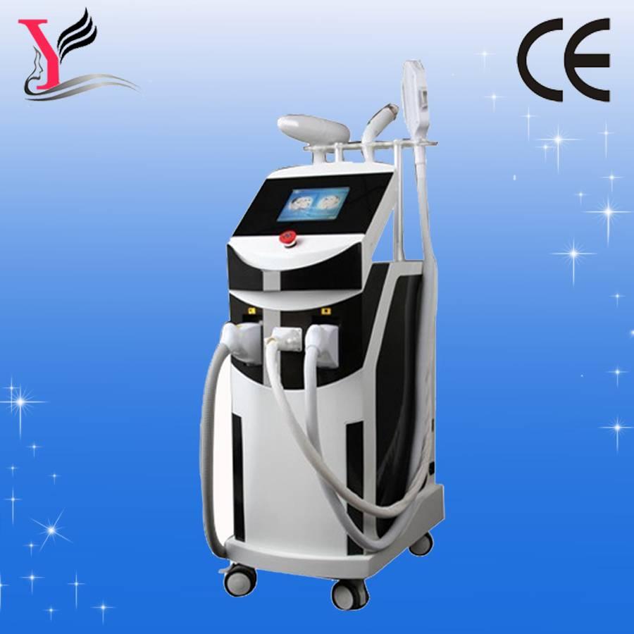 SHR e light ipl rf nd yag laser 4 in 1 for permanent hair removal