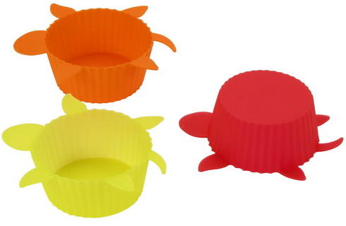 Silicone Cup Cake Mold Set Of 6 - Turtles