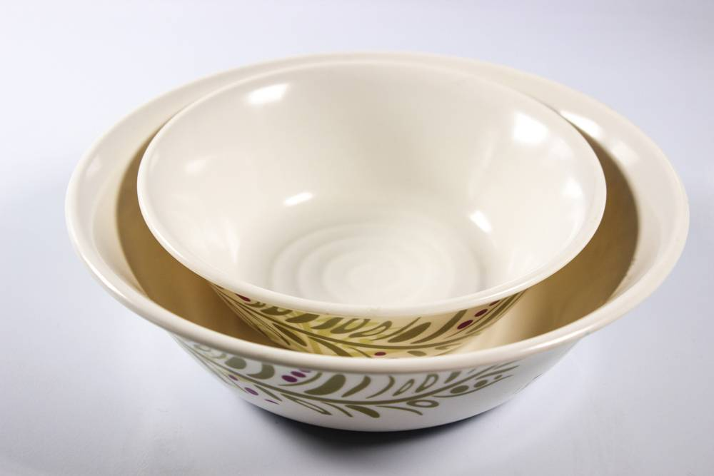 6pcs mixing round melamine bowl sets