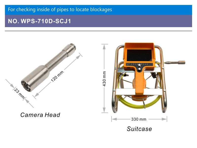 WOPSON underwater drain sewer inspection camera with 512 hz locator transmitter