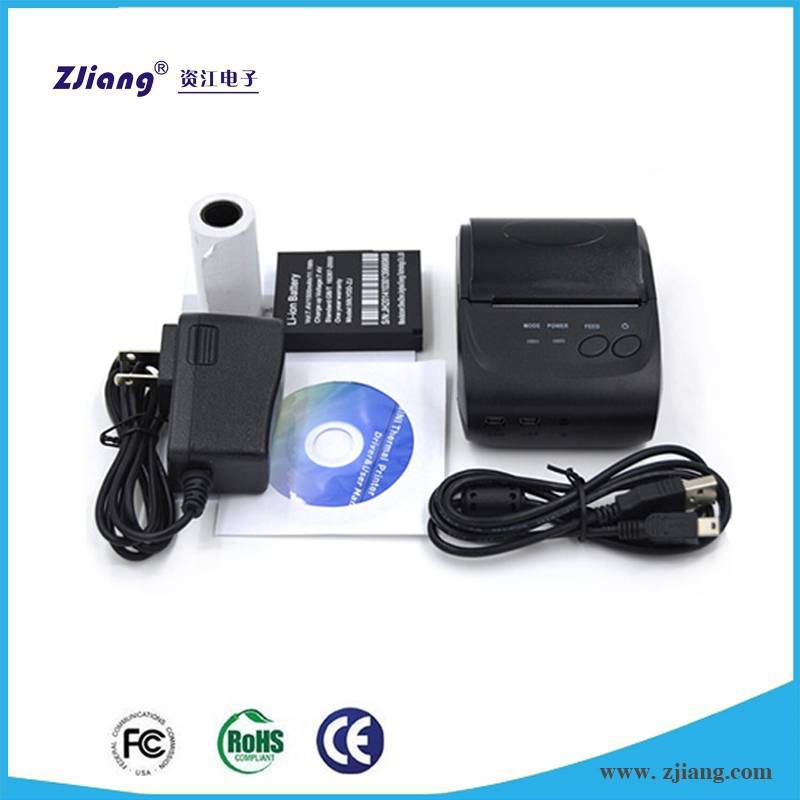 ZJ-5802 bluetooth iOS mobile bill printer , thermal printer price in