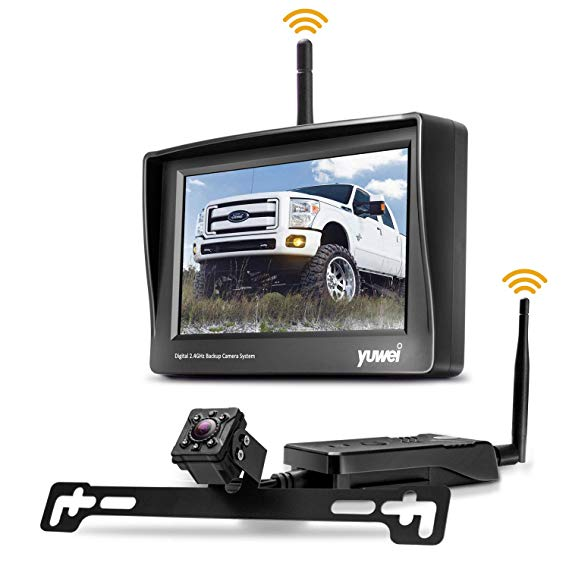 Reverse Mini Camera Kit with Wireless Transmitter and 4.3 LCD Display