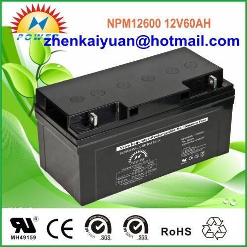 lead acid /sealed /ups/solar/ battery12V60Ah