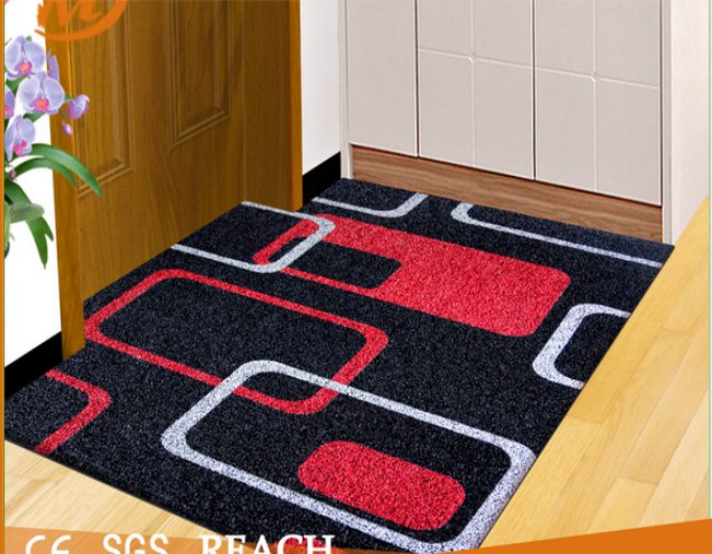 MEIERJIE factory product custom printed pvc door mat for outdoor and indoor