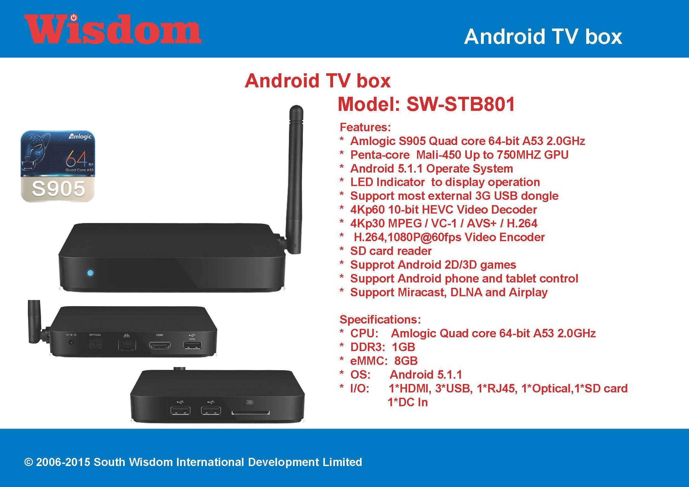Amlogic S905 Android TV box