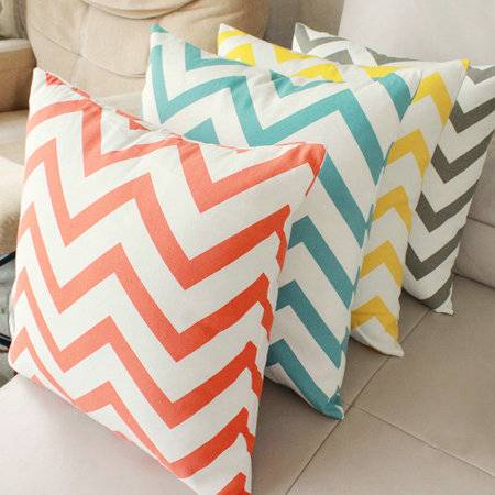Wholesales 100% cotton chevron cushion cover for home decor