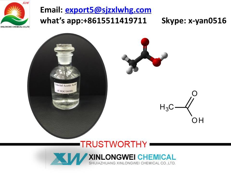 glacial acetic acid 99%min, CH3COOH /CAS No. : 64-19-7