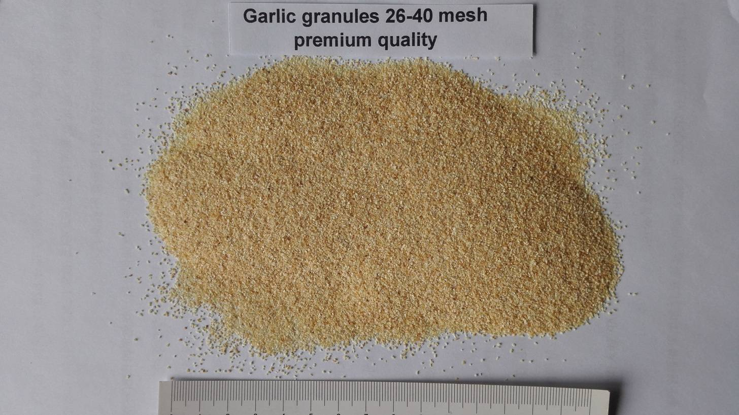 Dehydrated Garlic granules 26-40mesh