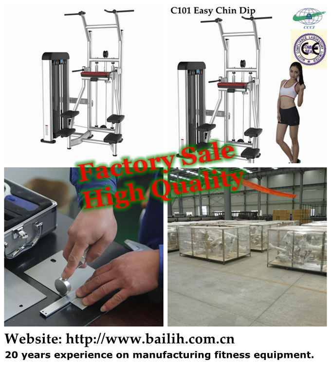 Factory Sale C101 Easy Chin Dip Strength Gym Equipment Bodybuilding Machine