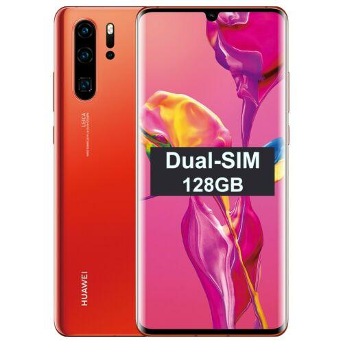 wholesale new New Huawei P30 PRO Dual/Hybrid-SIM VOG-L29 128GB Amber FactoryUnlocked SIMFree