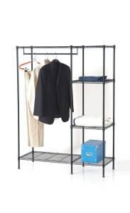 Adjustable Steel Bedroom Garment Closet Rack