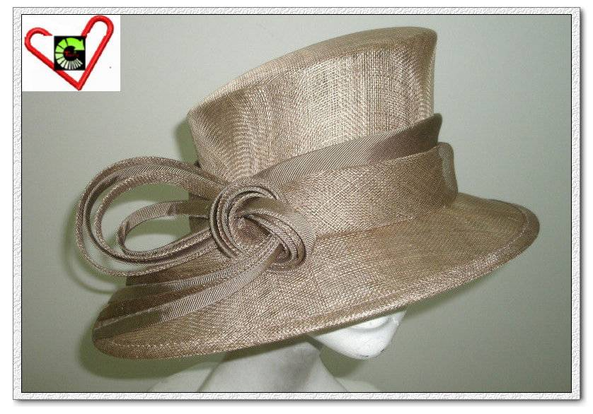 Sinamay Wide Brim Derby Hat for Carnival