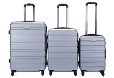 """ABS high quality colorful luggage set, 20"""" 24"""" 28"""" suitcase set"""