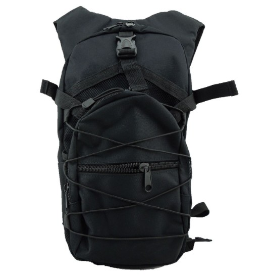 Casual rucksack large capacity polyester tactical backpack with hydration bladder water bag