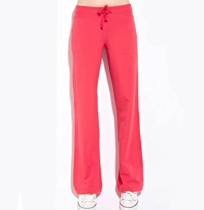 Fashion And Simple Style Solid Ladies Sweat Pants