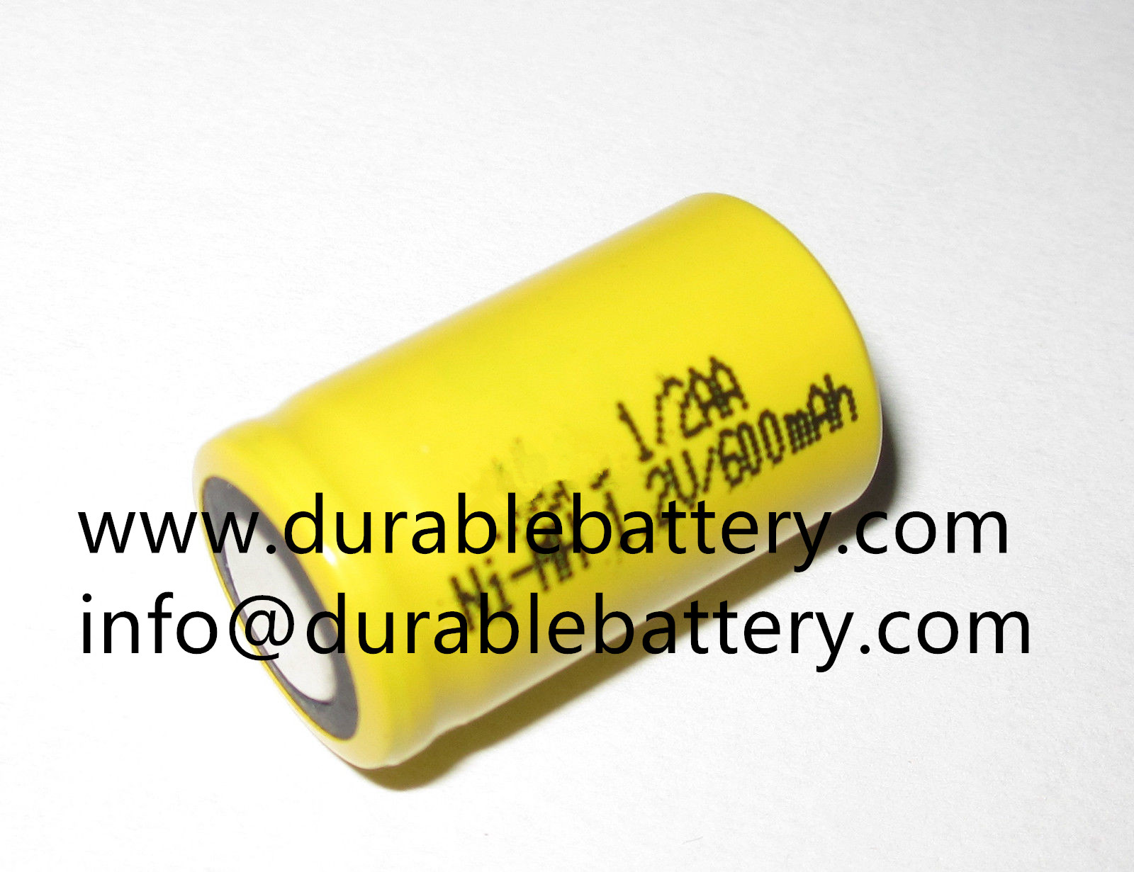 1/2aa 1.2v 600mah nimh rechargeable battery cell with pins