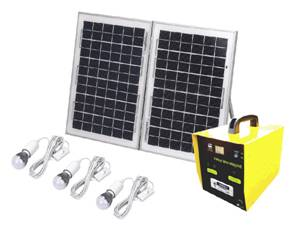 Customize 10W -100W Portable Solar Powered Lighting System with MP3 TV Vedio Function
