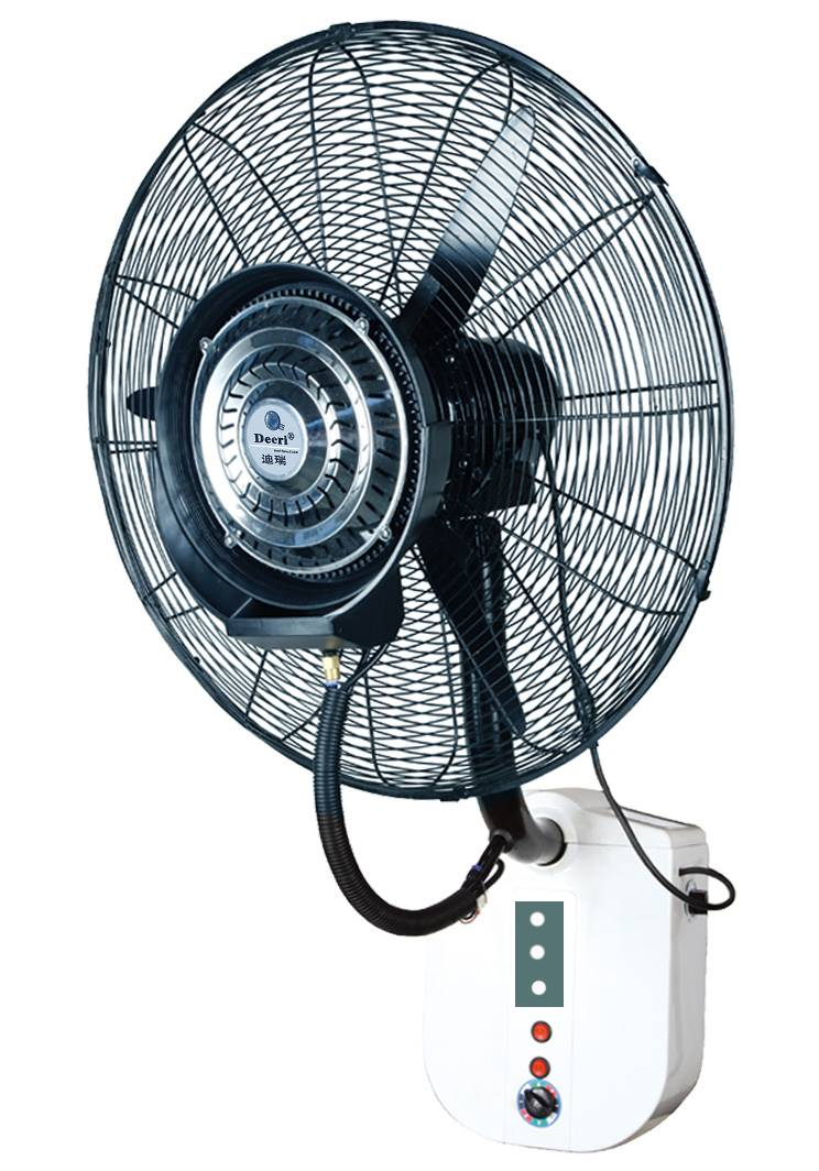 Deeri Factory supply Wall mounted misting industrial fan with rainproof and remote control type650