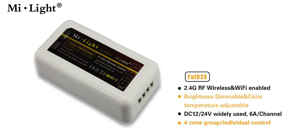 Dimmable 12v/24v led strip controller with rf remote,wifi linked up brightness control led strip con