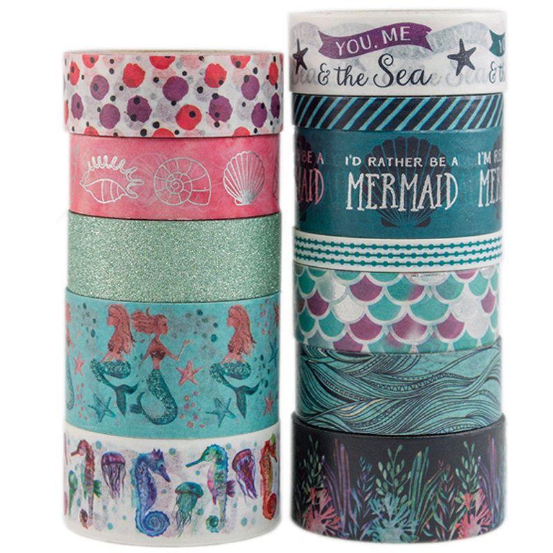 Precious Metals Washi Tape Sticker Stationery Scrapbooking Decorative Tapes Flower Wrapping Paper