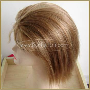 Short Straight Full Lace Remy Human Hair Wigs