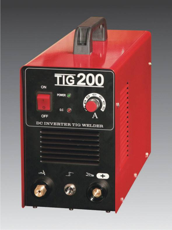 gas tungsten arc welding Invert DC TIG 200 welder