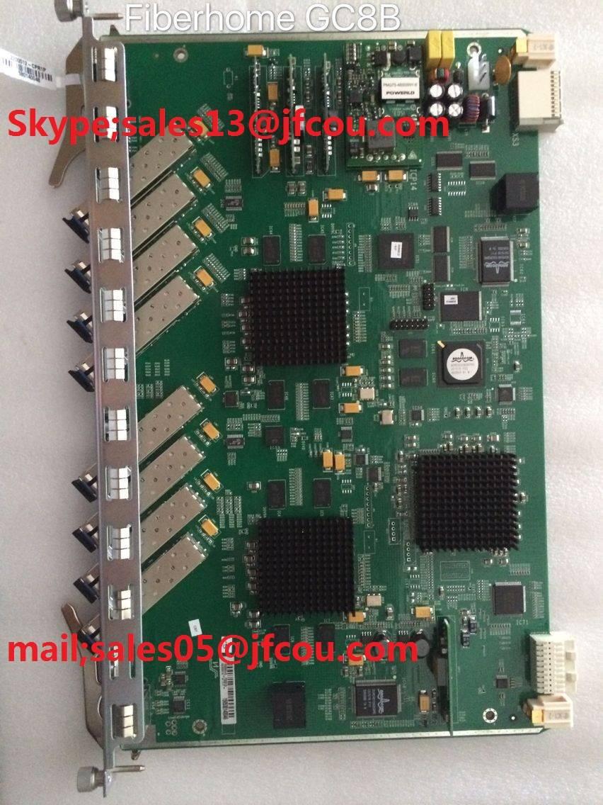 Original Fiberhome 8 ports GPON board for 5516-01 OLT. GC8B card model with 8 SFP modules