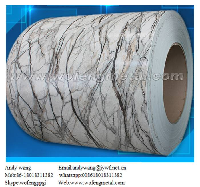 Cold rolled marble grain printed PPGI sheet
