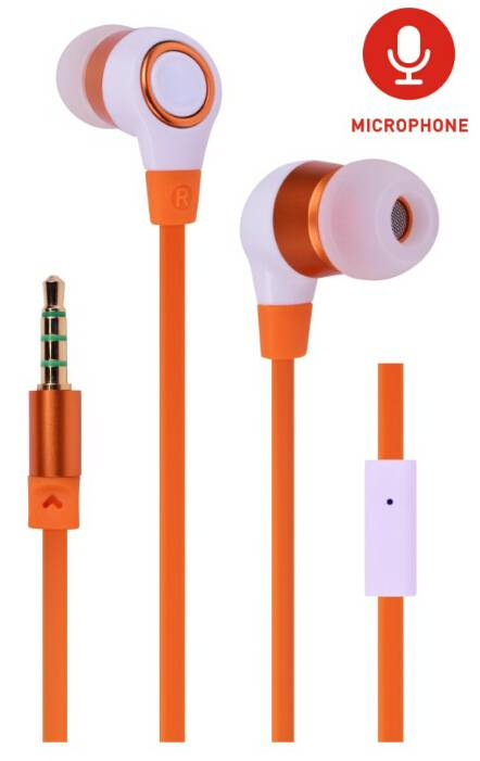 Stylish metallic stereo in-ear earphone with microphone for smartphone