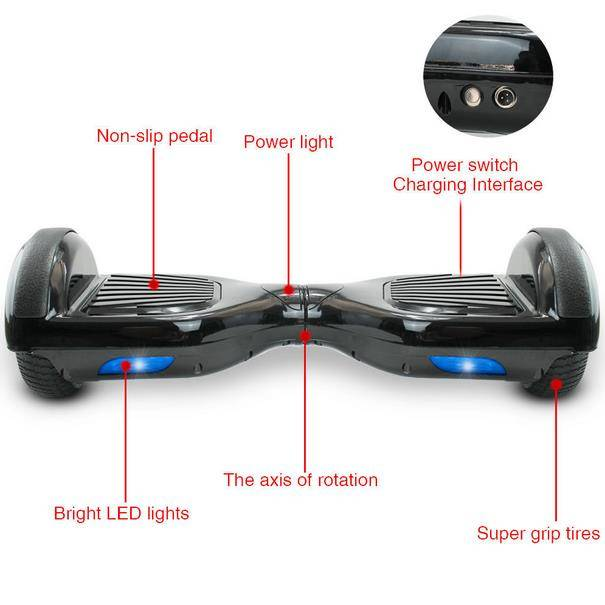 2 Wheels Self-Balancing Electric Scooter Two Wheels Unicycle Remote Control Hovertrax Electric Scoot