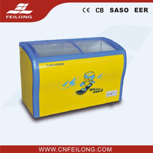 100L to 369L Glass Door Chest Freezers Flat Door and Curved Door availiable