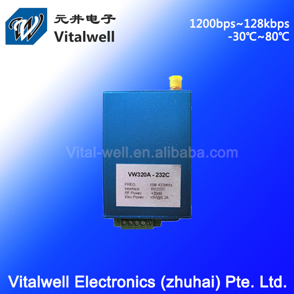 Zhuhai VW320A 100mW 433/868MHz rs232 wireless module