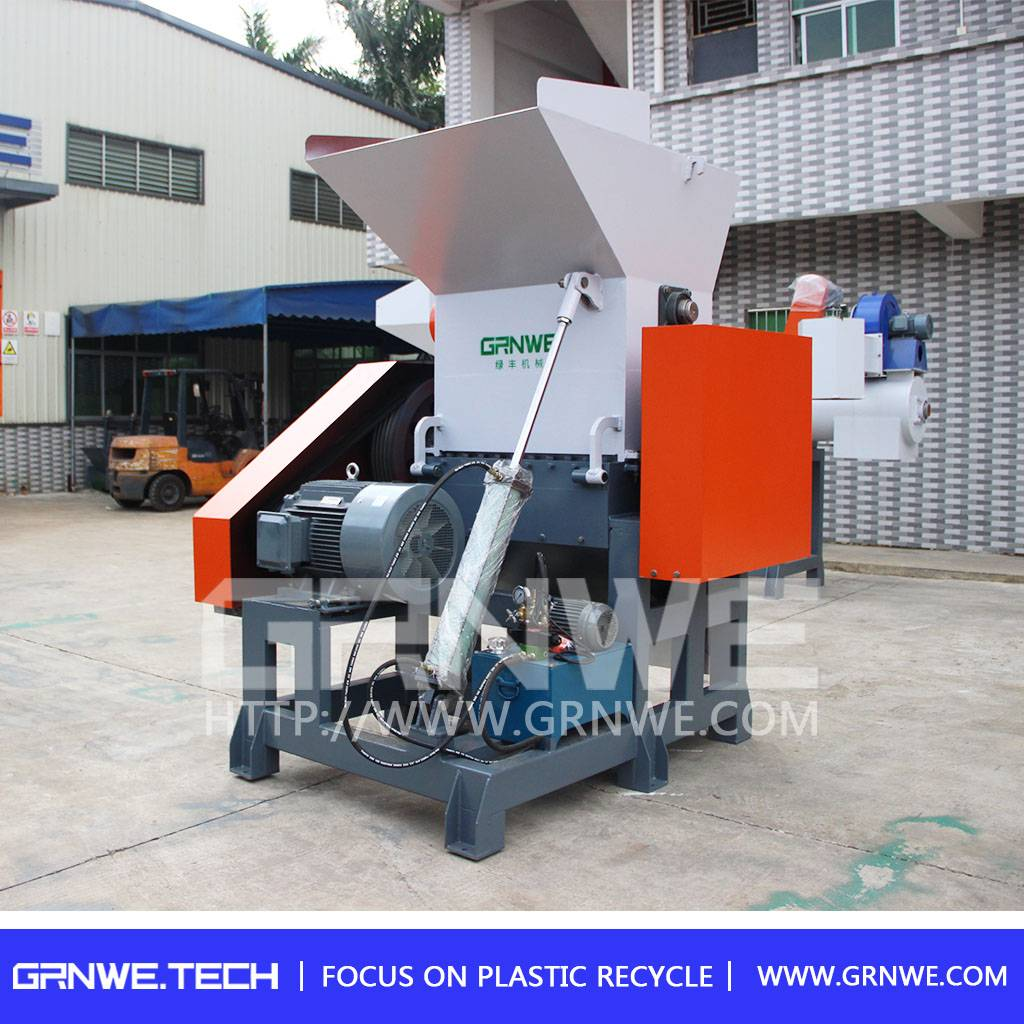 High quality and single shaft PET bottle crusher machine