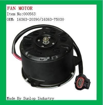 Fan Motor OEM:16363-20390/16363-75030 hiace 2005-2008, hiace 200 commuter parts quantum parts, toyot