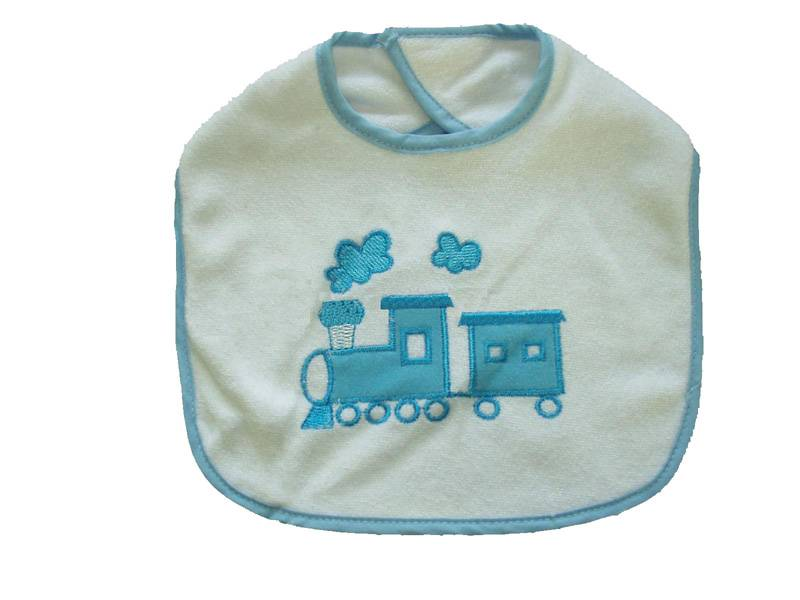 Printing or embroidery baby bib with customer's design