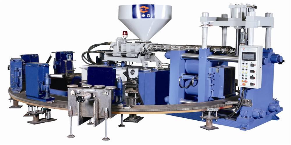 HM-618-2C horizontal rotary pvc rain boots making machine