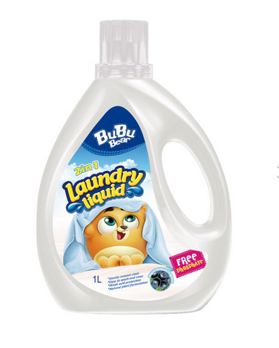 Laundry Liquid Free Phosphate 2in1 1L BUBUBEAR